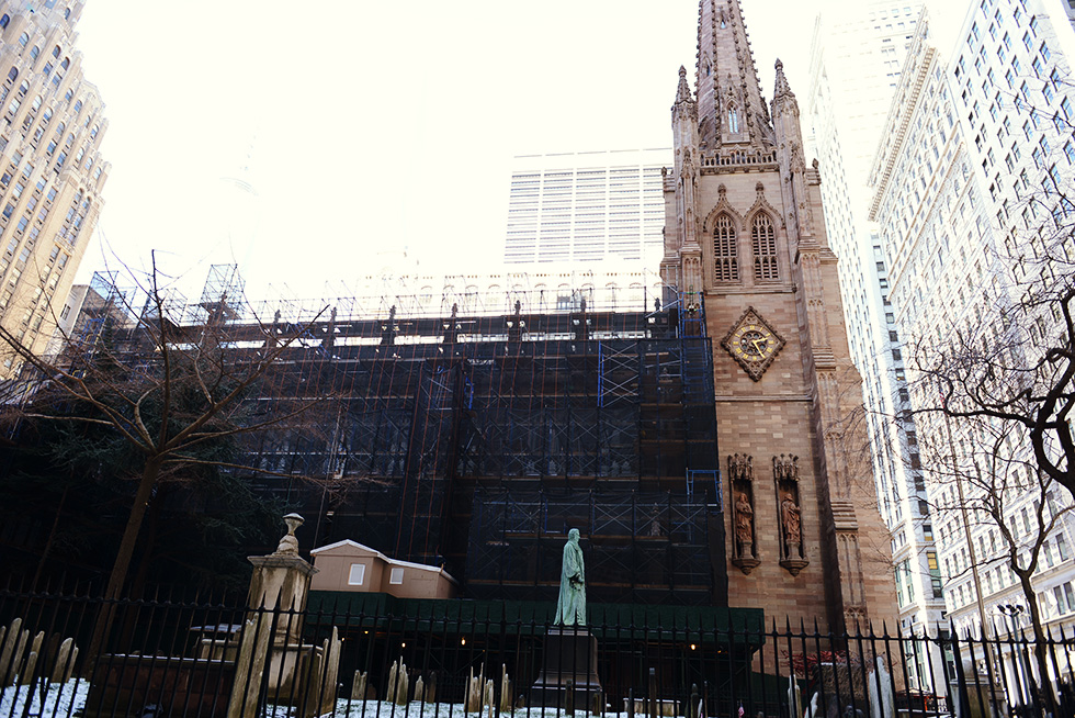 修復中のトリニティ教会