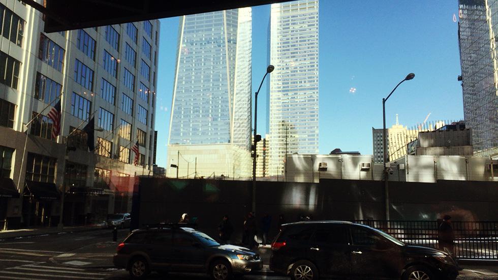 レストラン店内から見えるワン・ワールド・トレード・センター