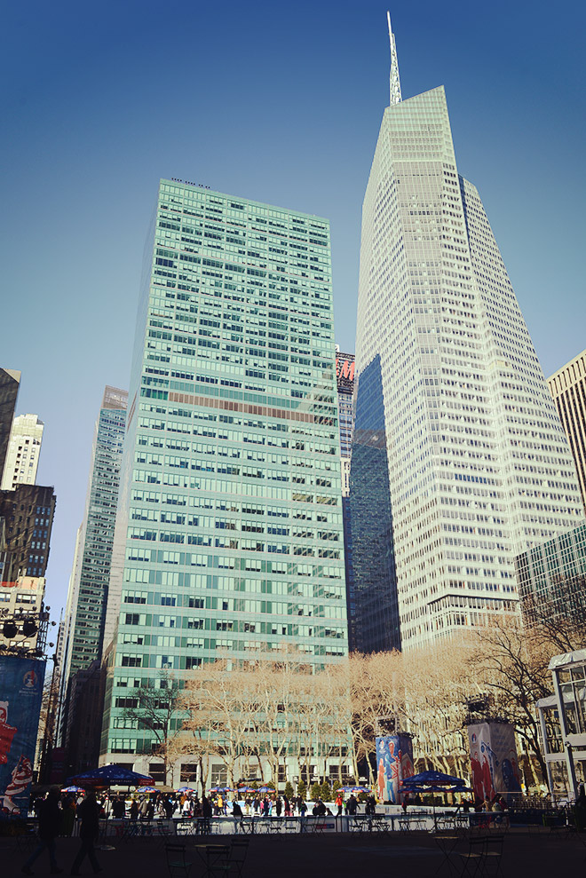 ブライアント・パーク周辺の高層ビル