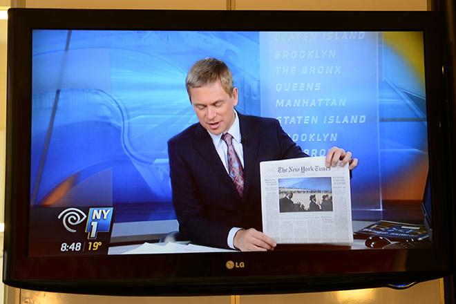 テレビのニュース番組