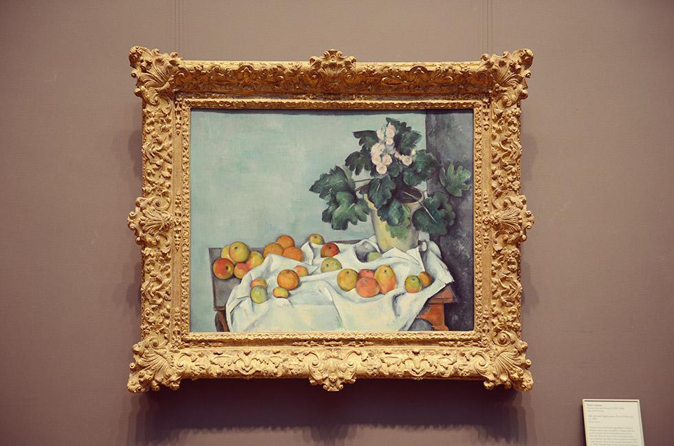 ポール・セザンヌのStill Life with Apple and a Pot of Primroses