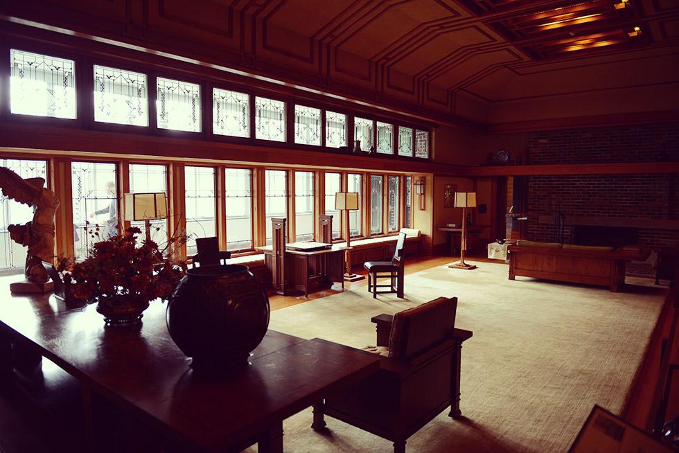 フランク・ロイド・ライト(Frank Lloyd Wright)が設計した部屋