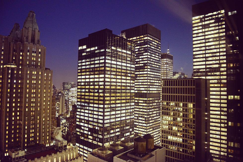39階の部屋から見える景色